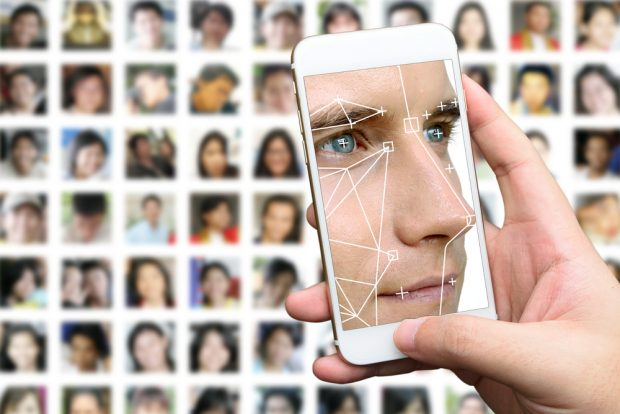 smartphone with faces, biometrics