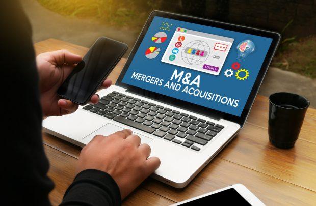 M&A on laptop