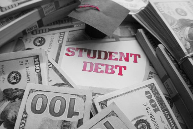Student debt stacking up.