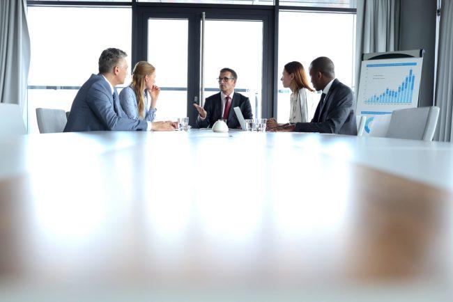 Meeting of credit union board members.