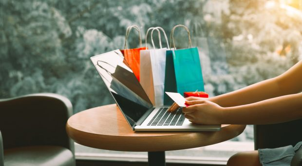 shopping online with a debit card
