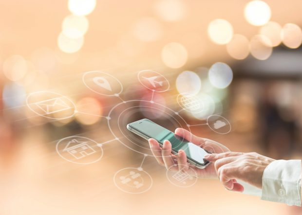 mobile banking features on a smartphone