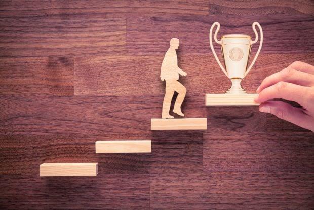Climbing ladder toward award