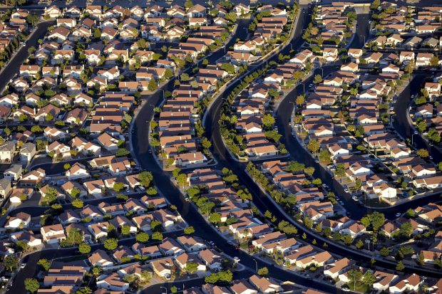 Suburb in Las Vegas, Nevada.