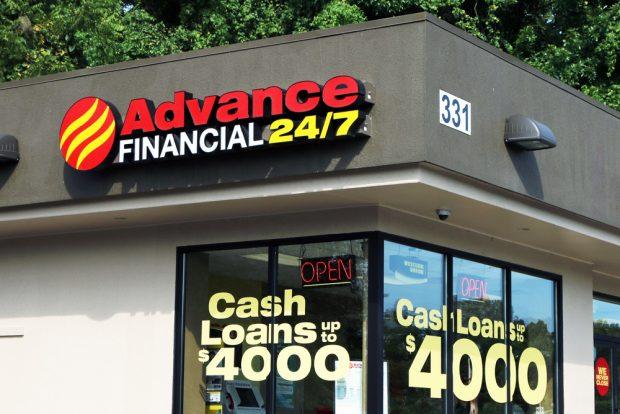 Cash advance store front