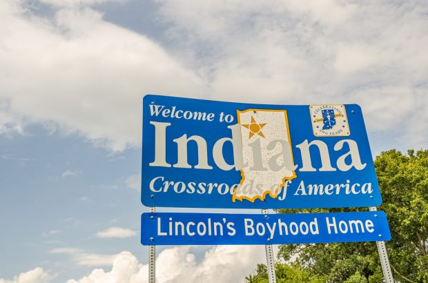 State sign of Indiana