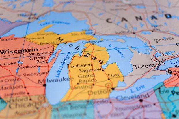 Map of Michigan.
