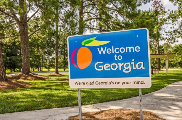 Welcome to Georgia state sign.
