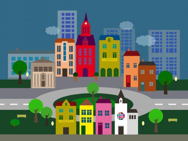 Local city center