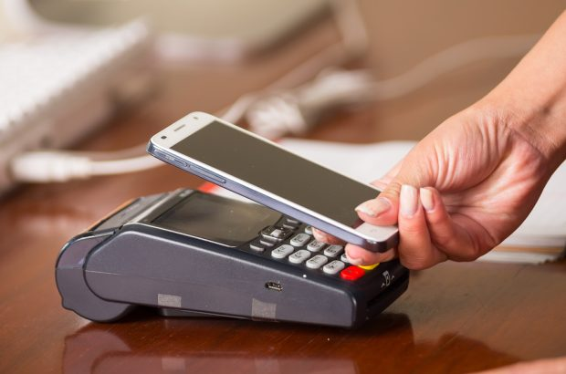 Using iPhone to make a mobile payment
