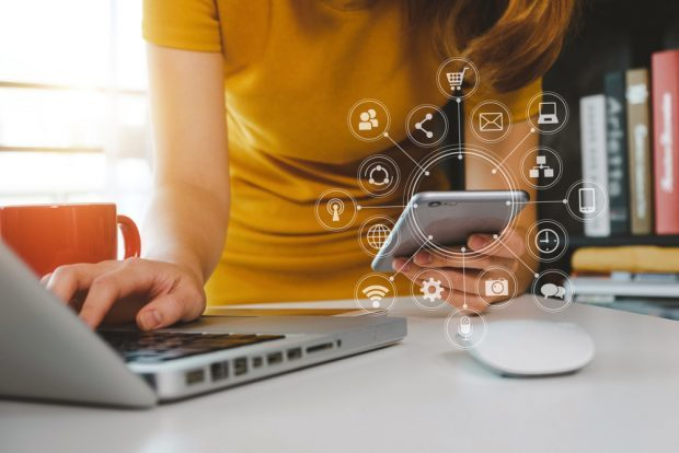 Consumer using online security steps