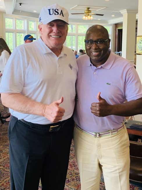 Trump with Rodney Hood