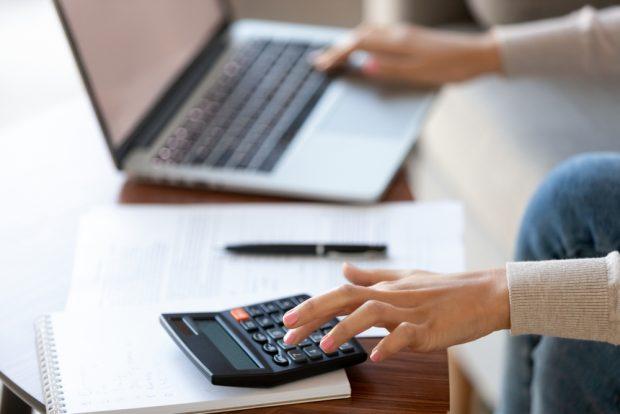 Paying bills online.