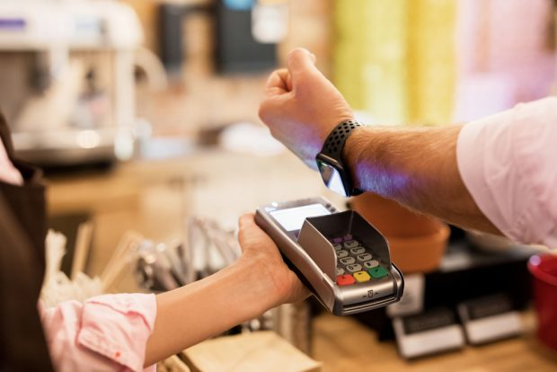 Making payment using wearables.