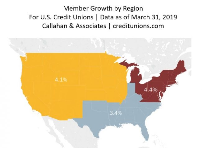 Member growth U.S. map