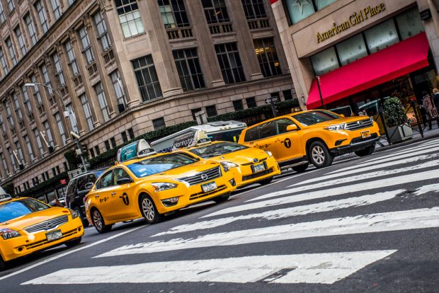 New York City taxis.