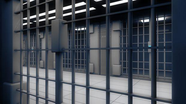 inside jail cell