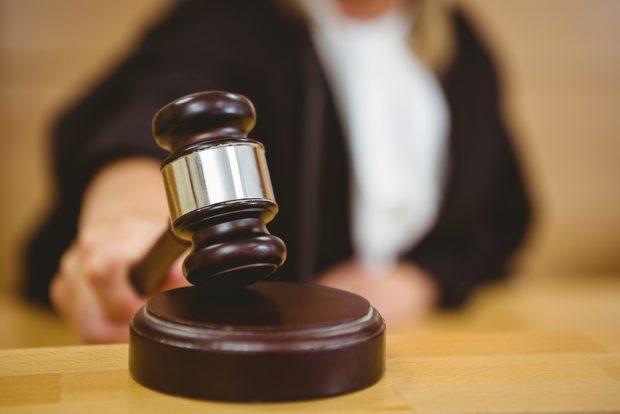 Guilty plea in court.