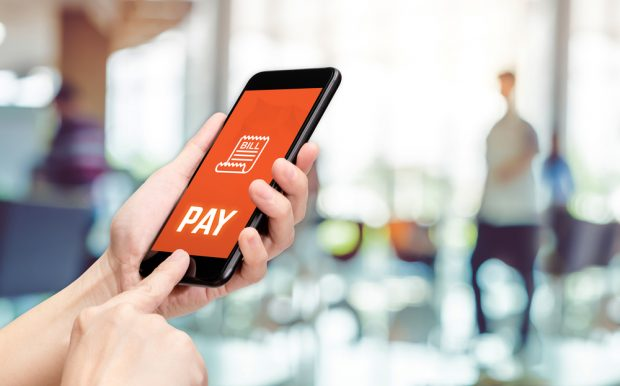 Using a mobile bill pay service