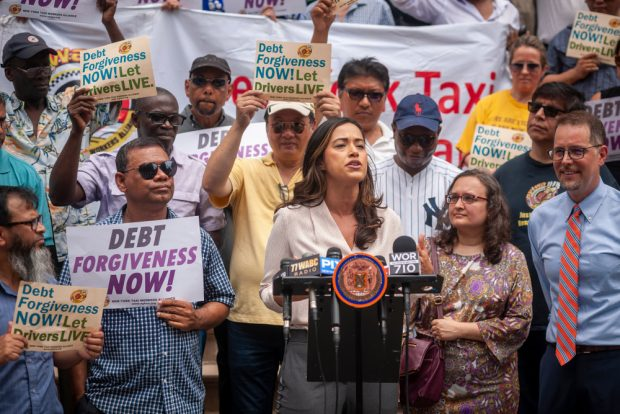 Outrage grows as New York City Council Member Carolina Rivera demands taxi medallion loan forgiveness on July 11, 2019.