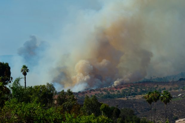 Wildfires burn near Fallbrook, Calif., July 2018. (Source: Shutterstock)