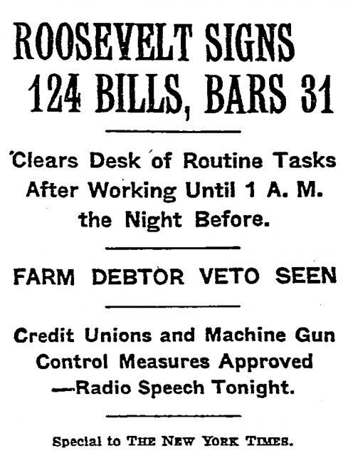 NYT 1934 Headline