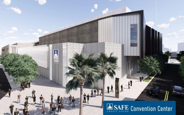 Rendition of the new SAFE Credit Union Convention Center.