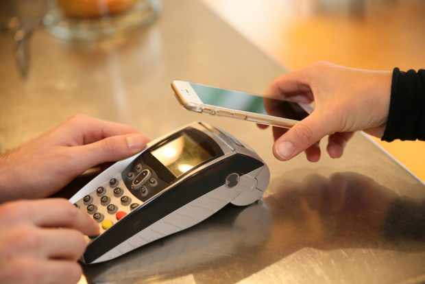 mobile payment using a smartphone