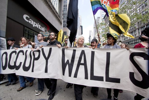 Occupy Wall Street protestors in 2011.