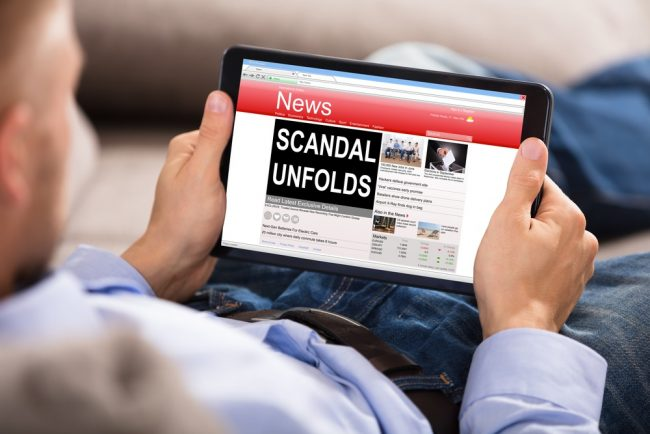 Scandal in the news
