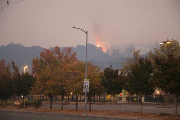Wildfires seen around Santa Rosa, Calif.