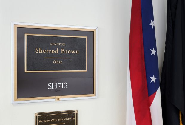 The entrance to the office of Sen. Sherrod Brown in Washington, D.C.