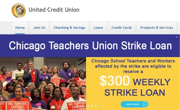Screengrab of United Credit Union website.