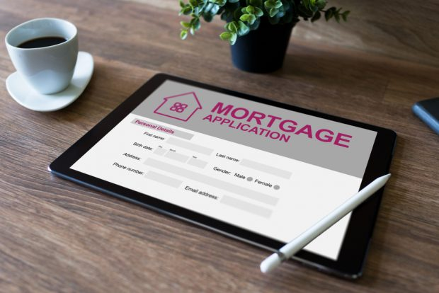 mortgage approved on a digital loan application.