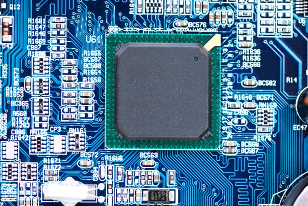core processing unit on a motherboard