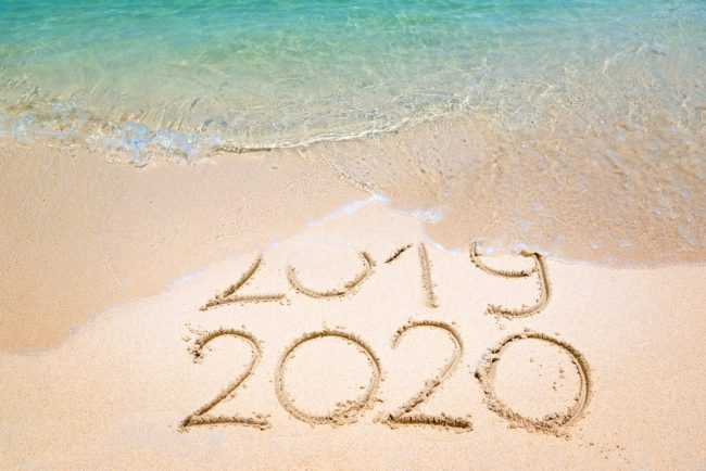 2020 written in the sand