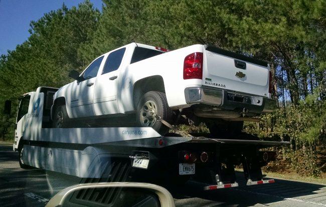 Carvana delivers a Chevy Silverado in South Carolina on Nov. 3.