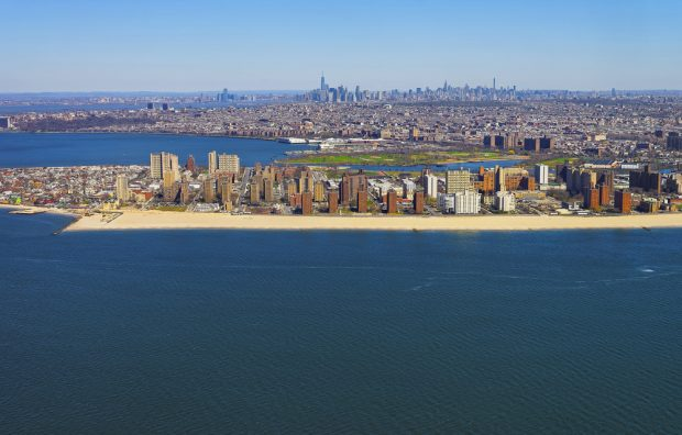 Helicopter view of Coney Island where MCU announced a branch closure.