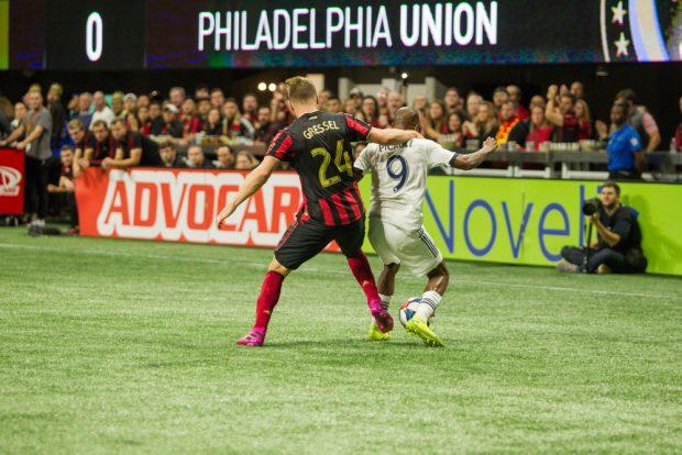 MLS Atlanta United Host Playoff Match against Philadelphia Union at Mercedes Benz Stadium in Atlanta.