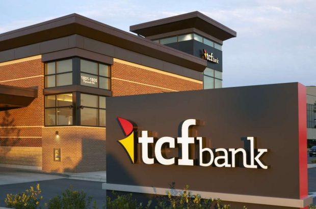 Credit union buys seven branches of TCF National Bank.