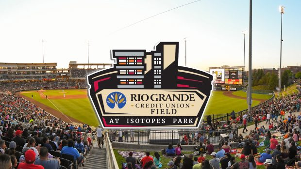 New logo of the Rio Grande Credit Union Field at Isotopes Park