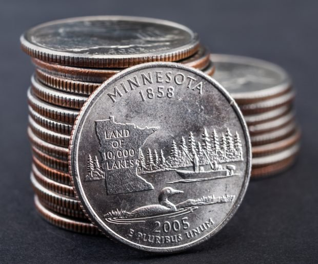 Minnesota state coin.
