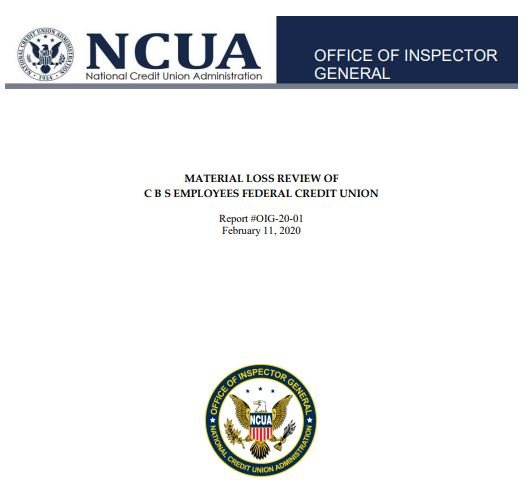 Cover page of the OIG report.