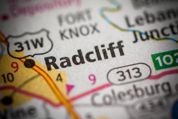 Map of Radcliff, Ky.