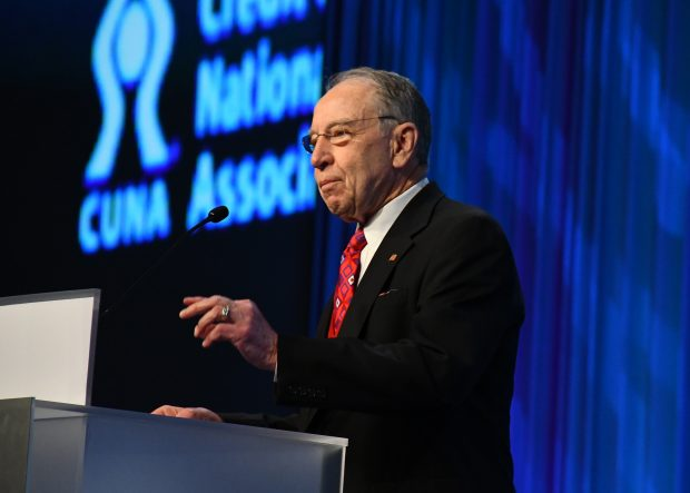 Sen. Chuck Grassley speaks at CUNA's Governmental Affairs Conference in Washington, D.C. on Feb. 26, 2020.