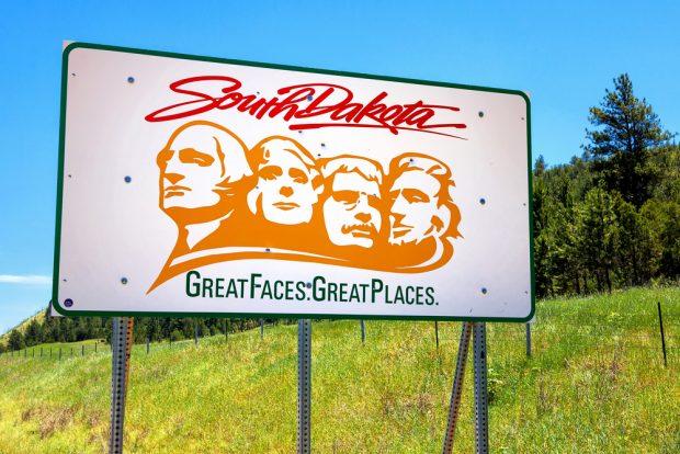 South Dakota state sign.