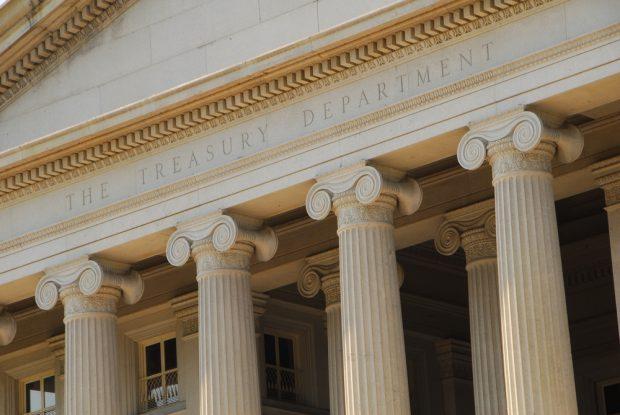 U.S. Treasury Department building in Washington, D.C.