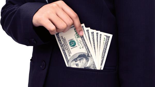 Executive stealing money