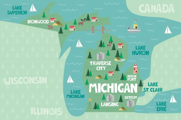 Michigan graphic