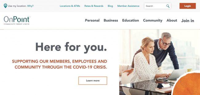 Web page screenshot of CU's coronavirus page